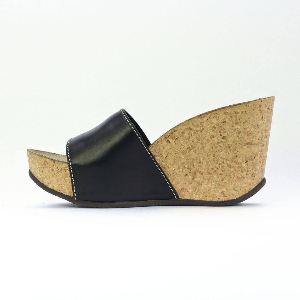 magasin en ligne 692c1 deb62 Mascha 13451 Nero | mule compensées noir printemps été chez ...