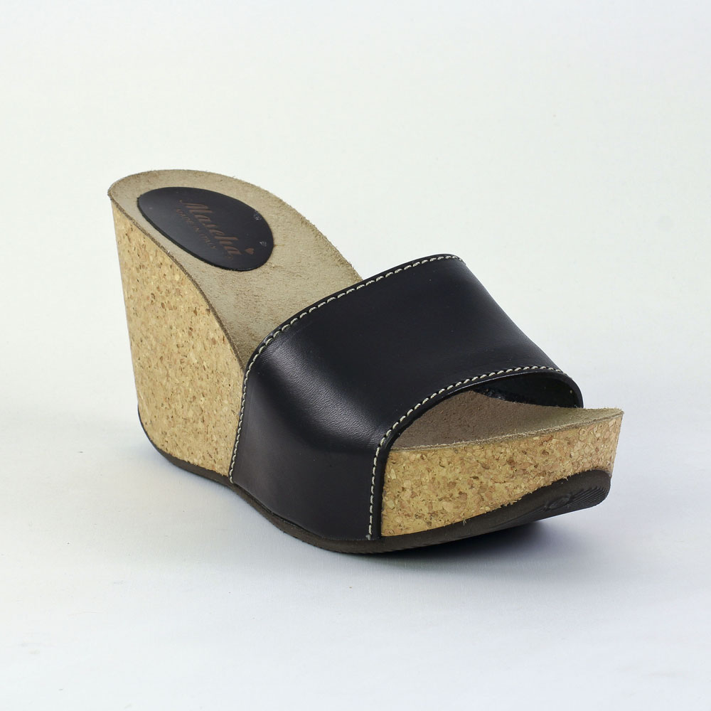mascha 13451 nero mule compens es noir printemps t chez trois par 3. Black Bedroom Furniture Sets. Home Design Ideas
