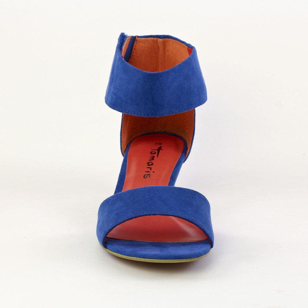 magasin en ligne 7e851 e9ded Tamaris 28223 Royal | nu-pieds bleu printemps été chez TROIS ...