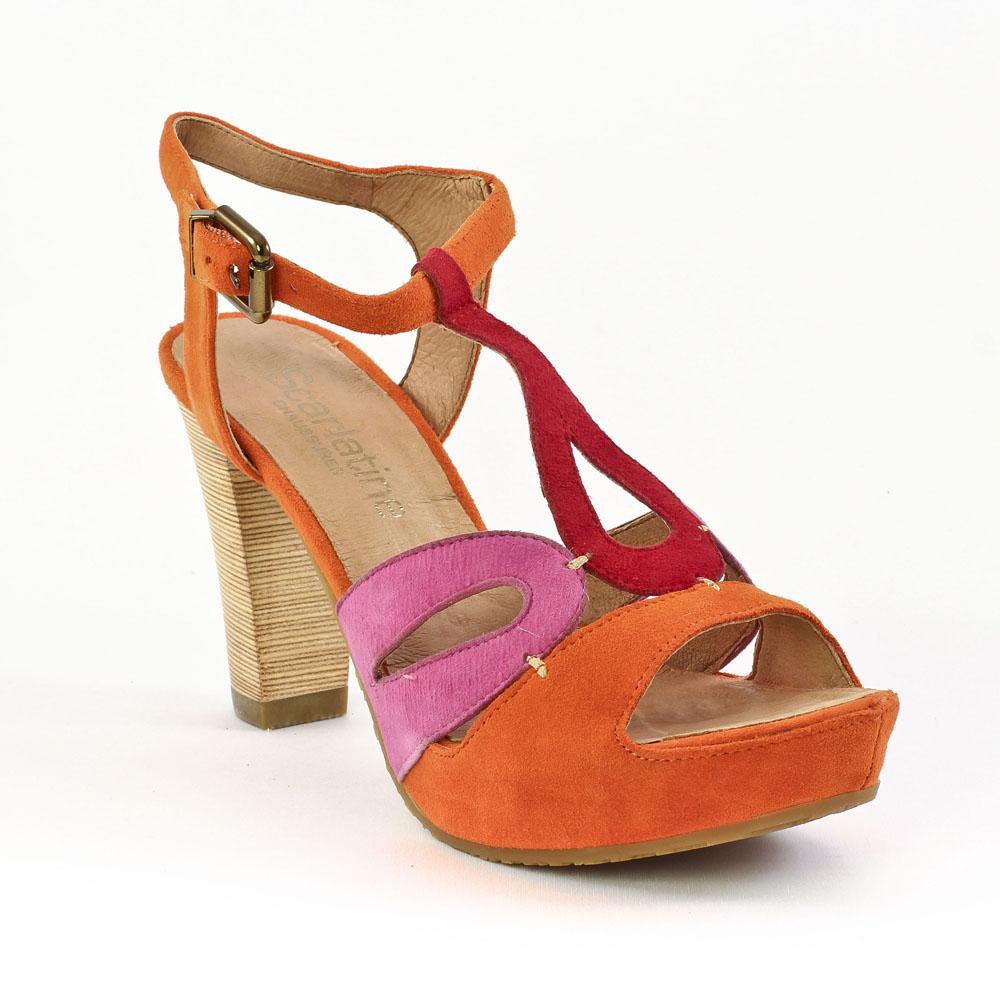 mamzelle titus multi orange nu pied talon hauts orange rose printemps t chez trois par 3. Black Bedroom Furniture Sets. Home Design Ideas