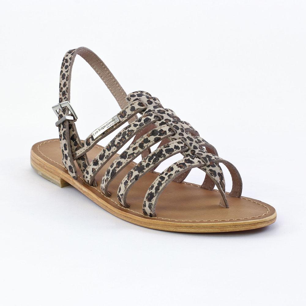 les tropeziennes leopard leopard sandales marron printemps t chez trois par 3. Black Bedroom Furniture Sets. Home Design Ideas