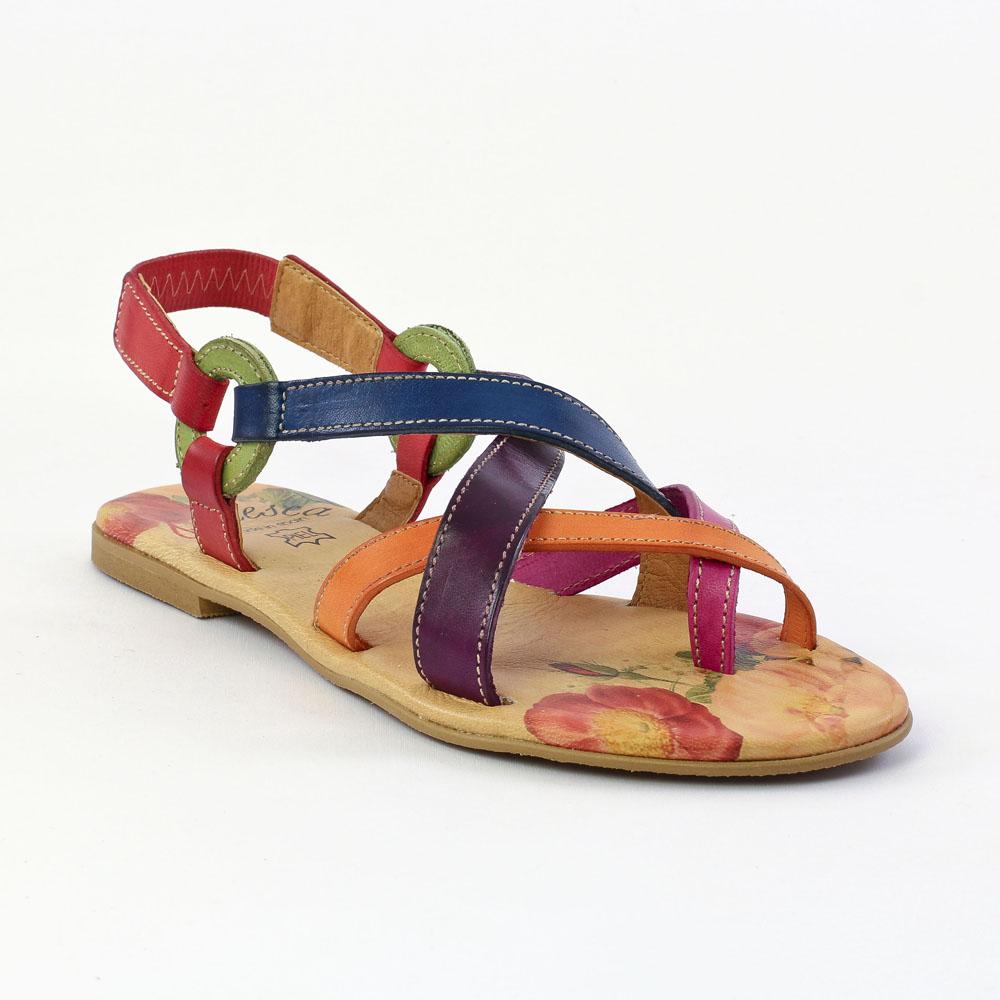 pas cher pour réduction 7cb9c aef59 Francesca 577 Naranja | sandales multicolore printemps été ...