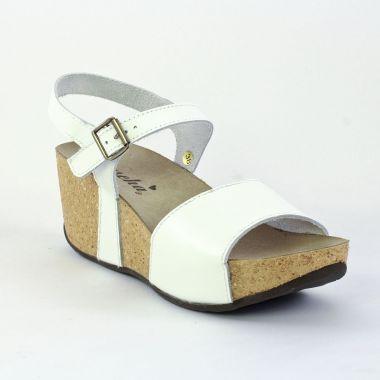 0bd7a7969ffcae Nu Pieds Et Sandales Mascha 13450 Bianco, vue principale de la chaussure  femme. sandales compensées blanc mode femme printemps été ...