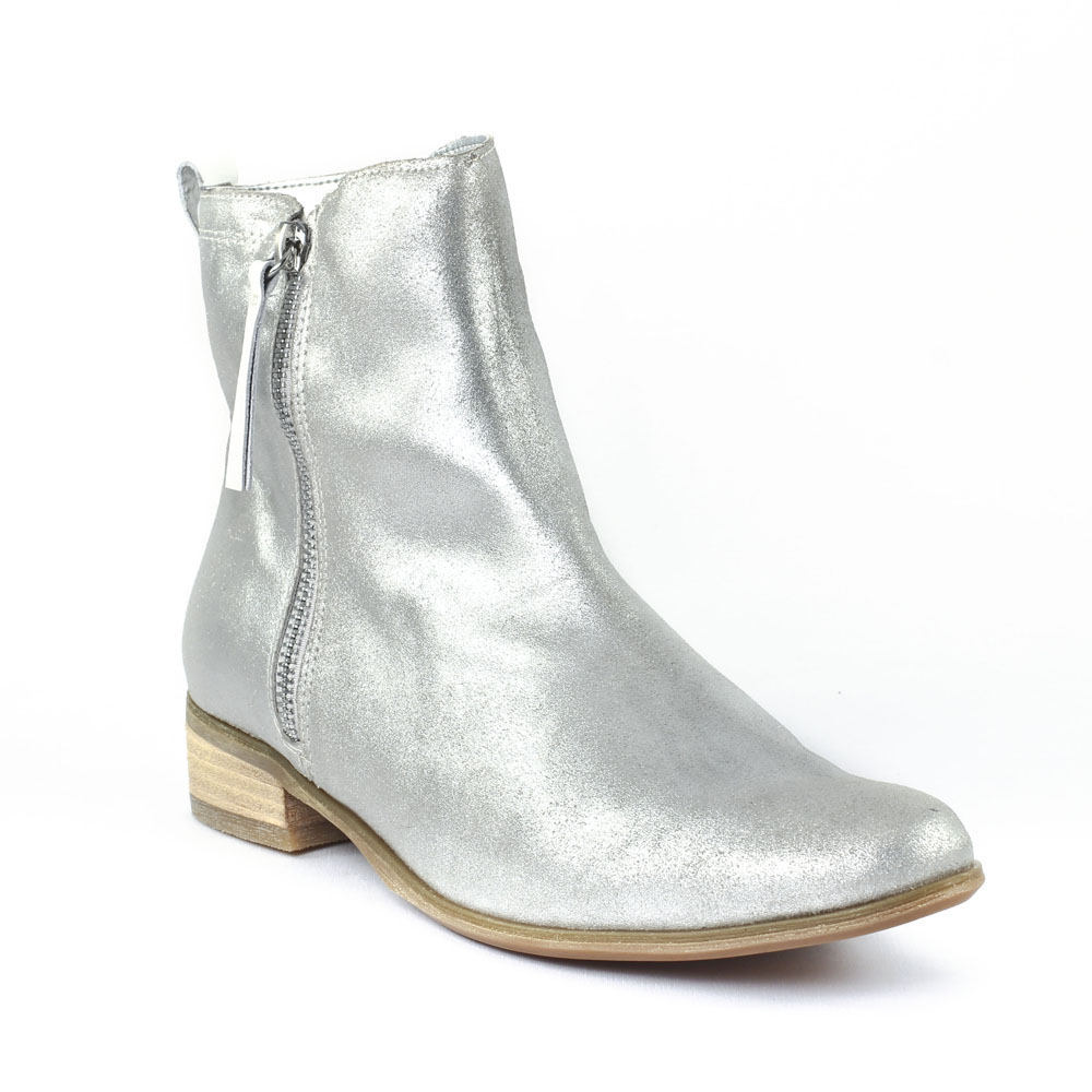 fugitive ralf acier blanc boots argent printemps t chez trois par 3. Black Bedroom Furniture Sets. Home Design Ideas