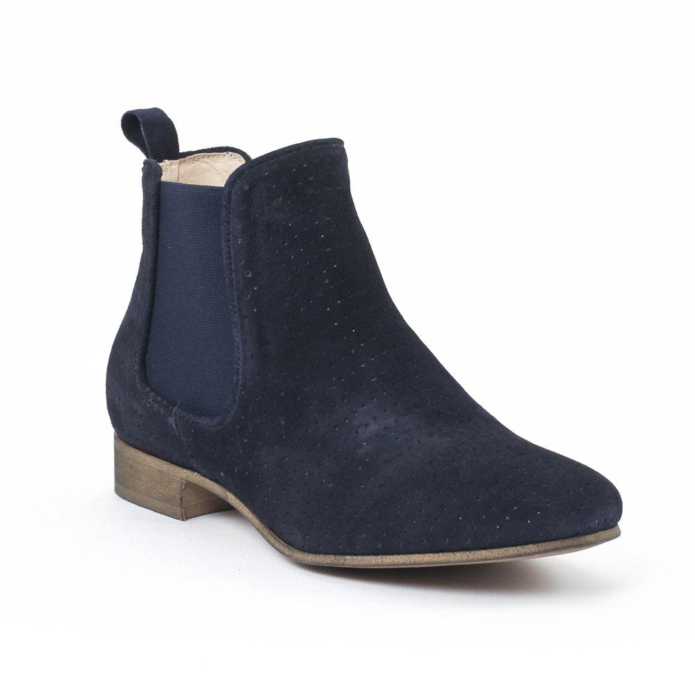 scarlatine co77152a river boot lastiqu es bleu marine printemps t chez trois par 3. Black Bedroom Furniture Sets. Home Design Ideas
