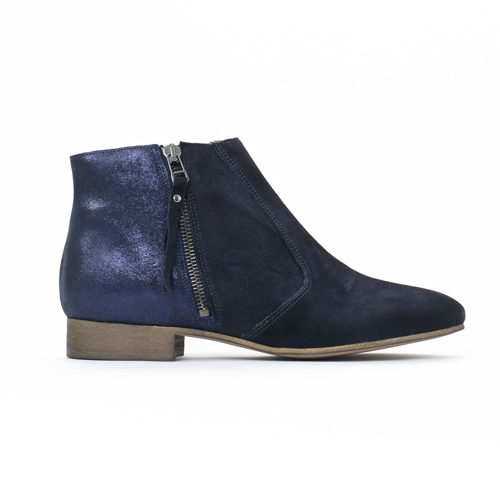 low boots femme scarlatine cob marine pve