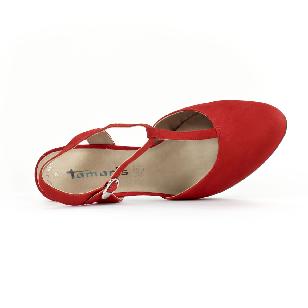 2d22362585c chaussure salome rouge