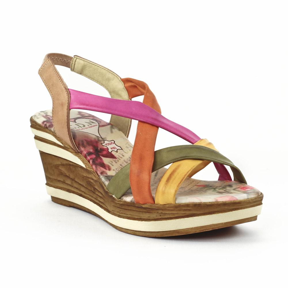 5844fefb75adeb Cdn 31022 Tierra | nu-pied semelle liège multicolore printemps été ...