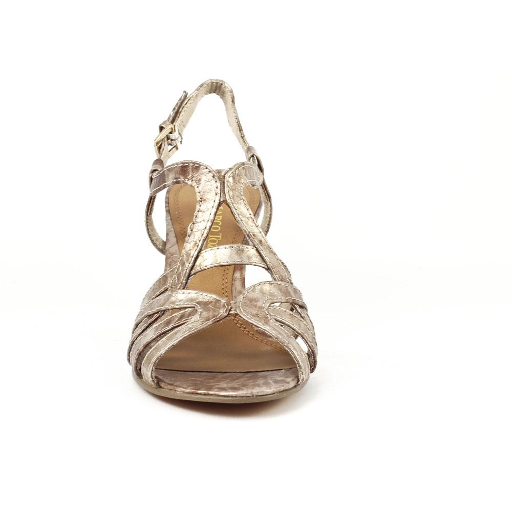 sandales dor es petit talon pais de 3 5cm avec strass. Black Bedroom Furniture Sets. Home Design Ideas