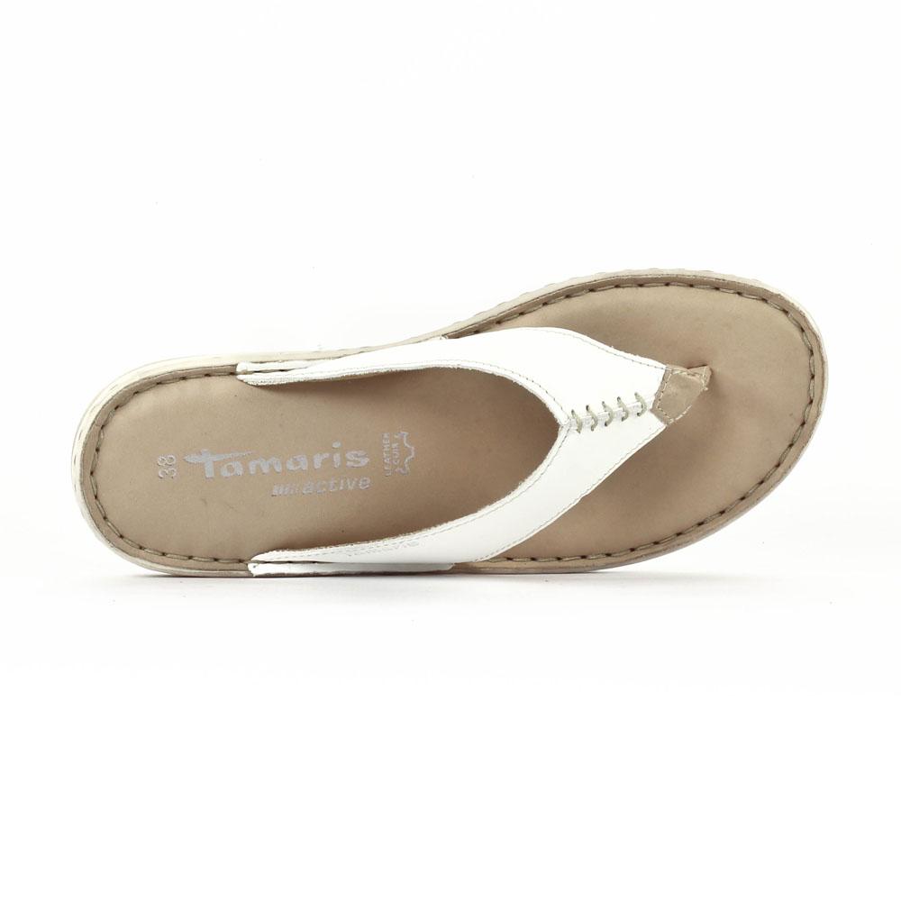 tamaris 27210 white sandales blanc printemps t chez trois par 3. Black Bedroom Furniture Sets. Home Design Ideas