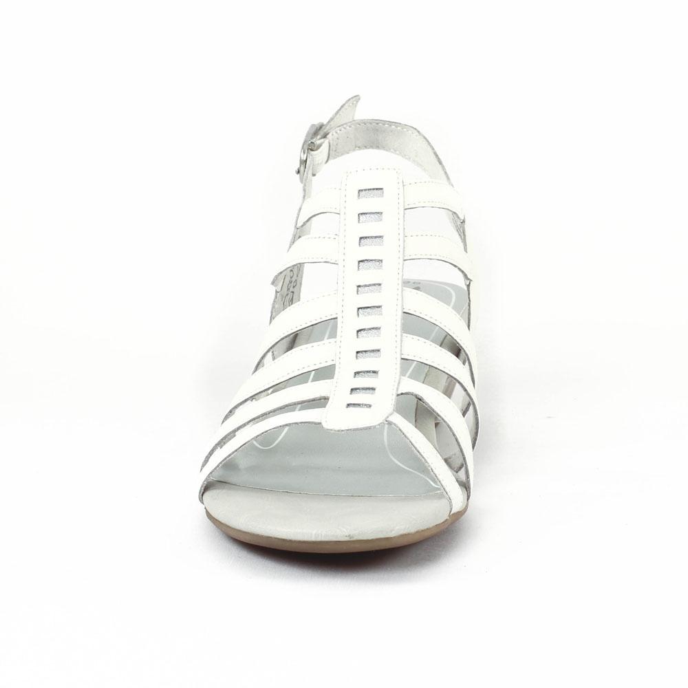 Tamaris 28200 White | sandale compensées blanc printemps été