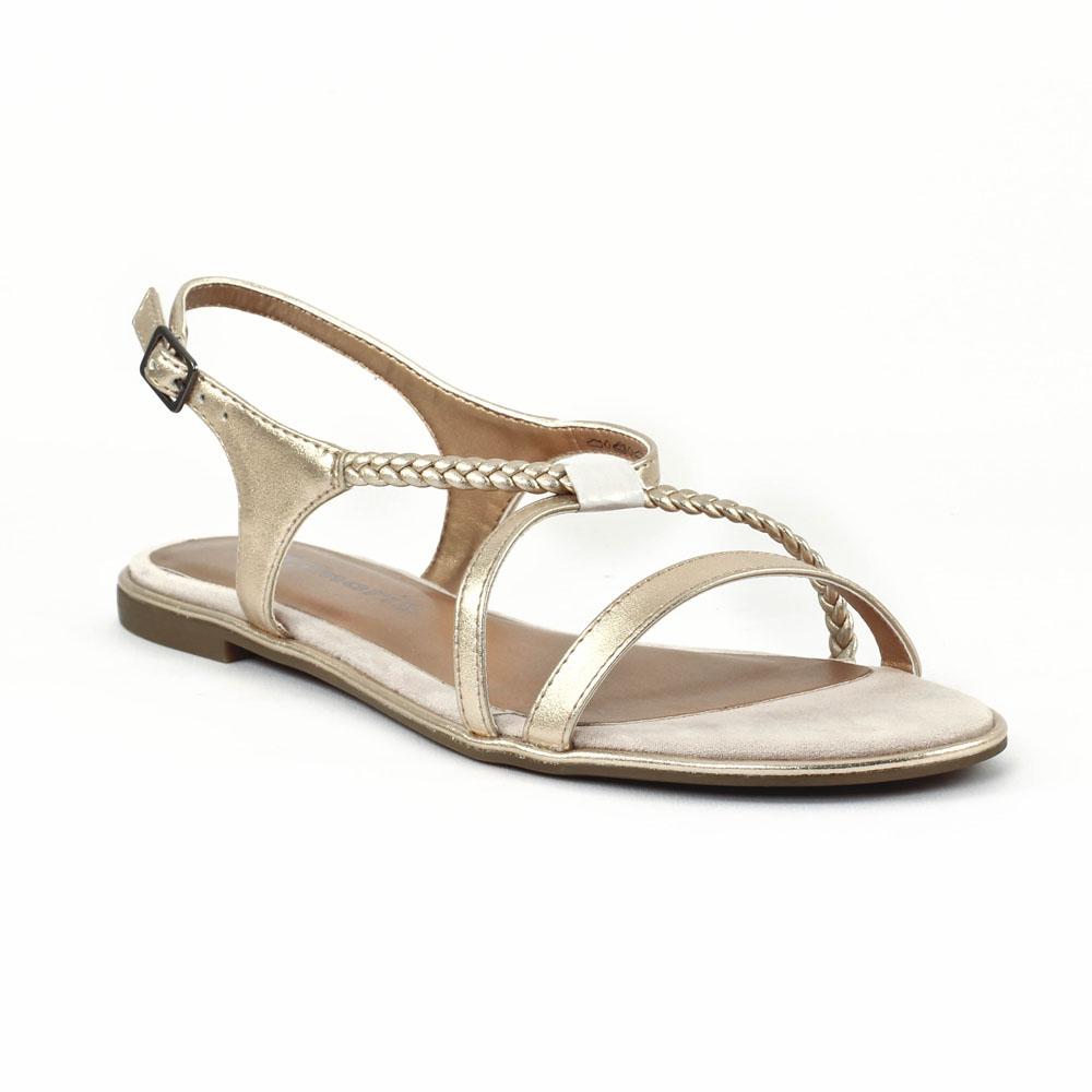tamaris 28129 copper sandales dor printemps t chez trois par 3. Black Bedroom Furniture Sets. Home Design Ideas