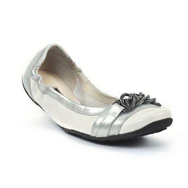 Ballerines Mamzelle Aurel blanc acier, vue principale de la chaussure femme