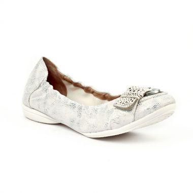 Ballerines Fugitive Noce Blanc, vue principale de la chaussure femme