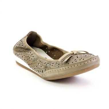 Ballerines Rieker 41287 Whitekie, vue principale de la chaussure femme