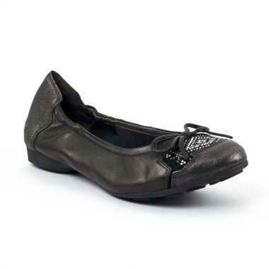 Ballerines Mamzelle Neva Noir Etain, vue principale de la chaussure femme
