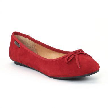 Ballerines Les Tropeziennes Carpina Rouge Foncé, vue principale de la chaussure femme