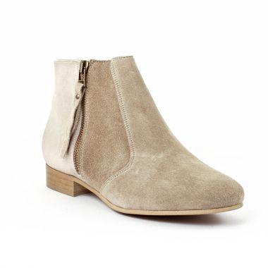 Bottines Et Boots Scarlatine co77151b Sabbia, vue principale de la chaussure femme