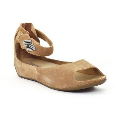Nu Pieds Et Sandales Fugitive Jino Velours Beige, vue principale de la chaussure femme