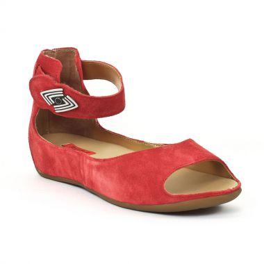 Nu Pieds Et Sandales Fugitive Jino Velours Rouge, vue principale de la chaussure femme
