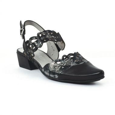 Nu Pieds Et Sandales Fugitive Gile Noir Noir, vue principale de la chaussure femme