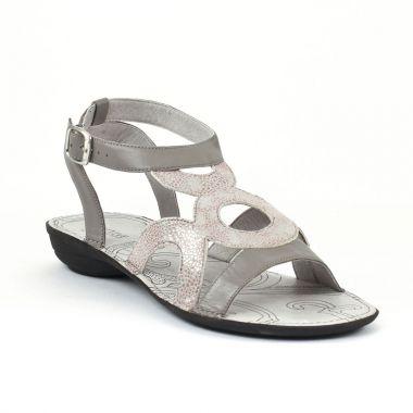Nu Pieds Et Sandales Fugitive Acao Gris, vue principale de la chaussure femme