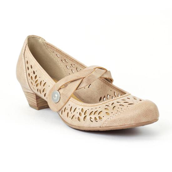 Babies Marco Tozzi 24501 Taupe, vue principale de la chaussure femme
