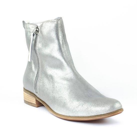 Bottines Et Boots Fugitive Ralf Acier Blanc, vue principale de la chaussure femme