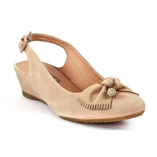 Nu Pieds Et Sandales Mamzelle Cloix Velours Beige, vue principale de la chaussure femme