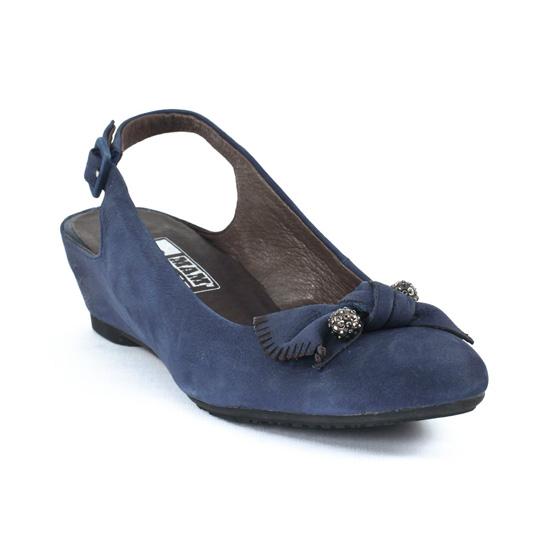 Nu Pieds Et Sandales Mamzelle Cloix Velours Jean, vue principale de la chaussure femme