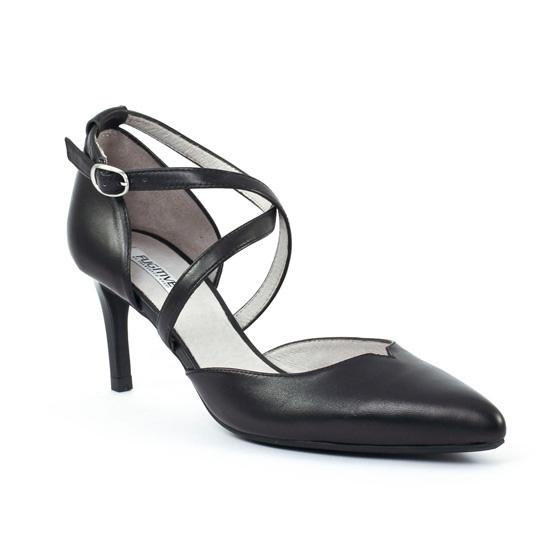 Nu Pieds Et Sandales Fugitive Olymp Noir, vue principale de la chaussure femme