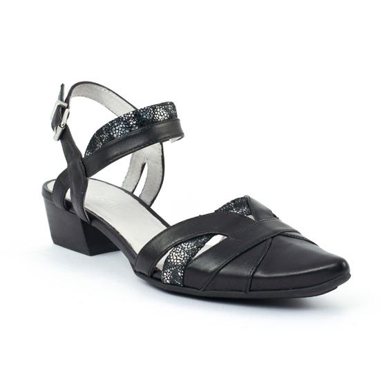 Nu Pieds Et Sandales Fugitive Gym Noir Noir, vue principale de la chaussure femme