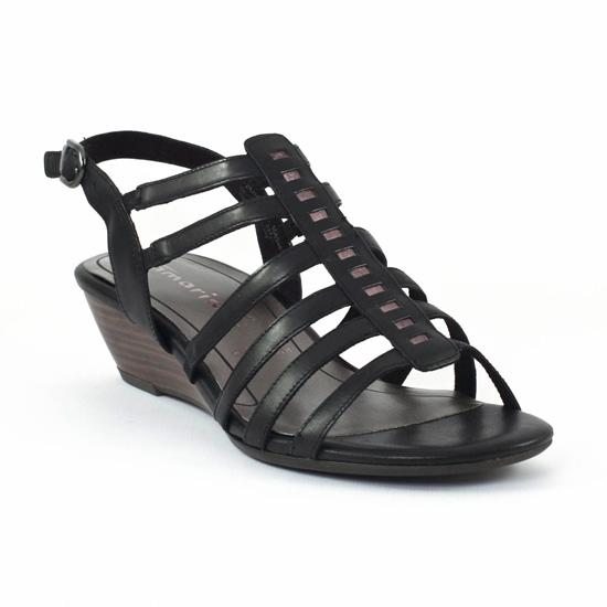 Tamaris 28200 Black | sandale compensées Noir printemps été
