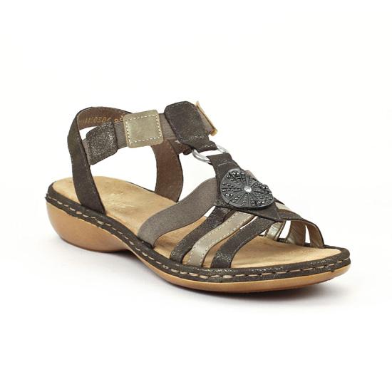 Chaussures Rieker Stromboli grises femme pv47Rgrs