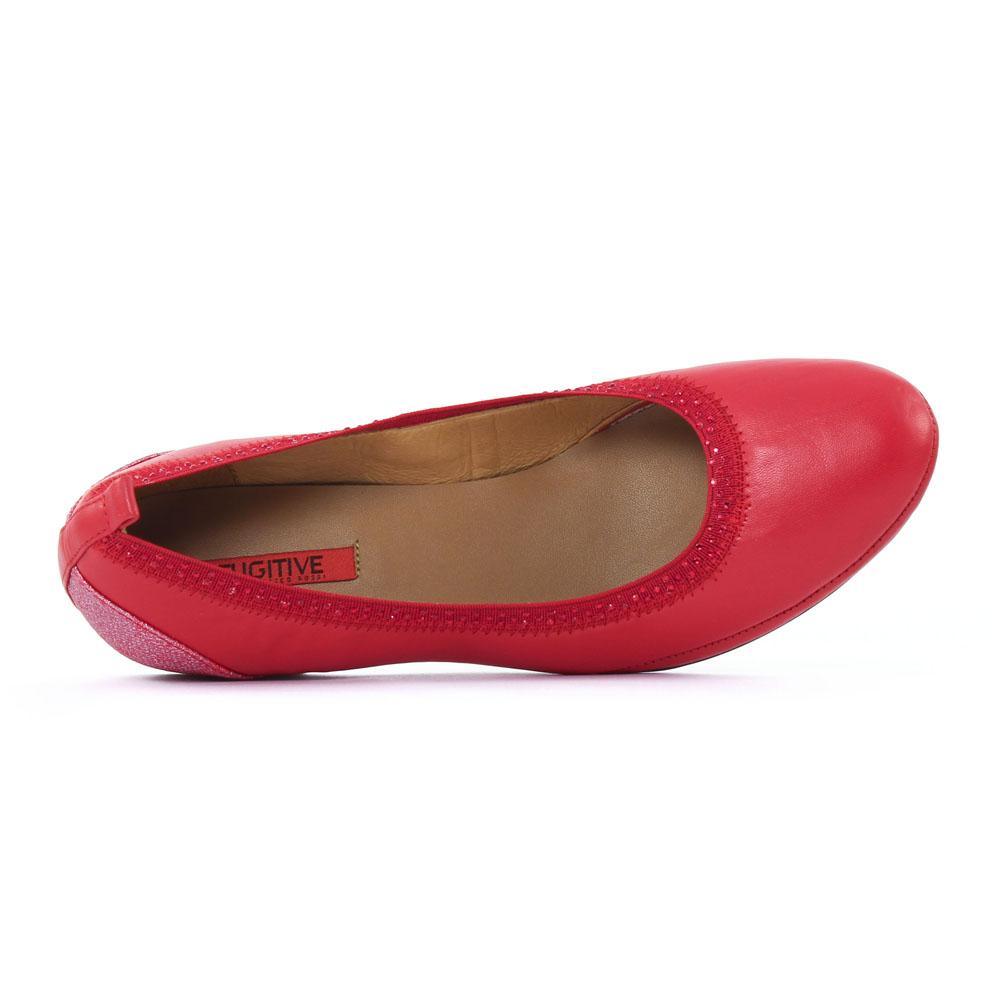 Fugitive Blaser Rouge   ballerine compensées rouge printemps