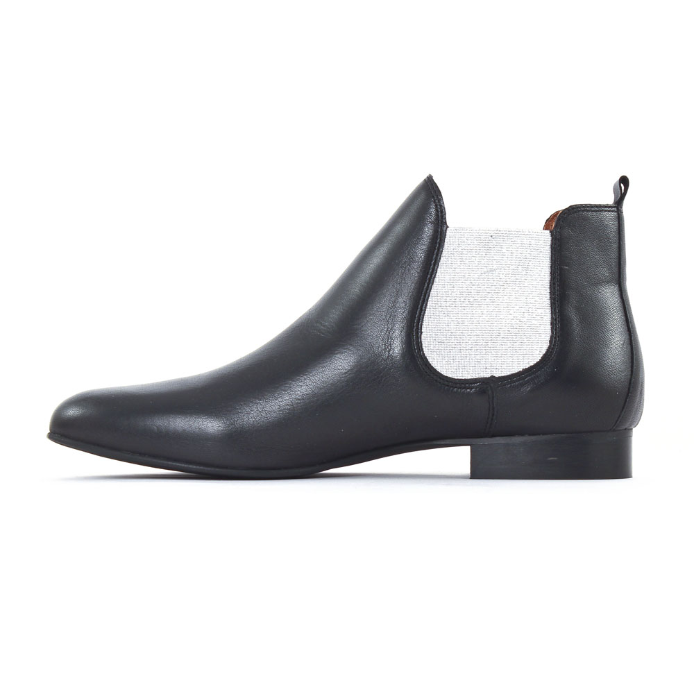Boots éLastiqué Argent Et Bleu Marine, éLastique Argenté