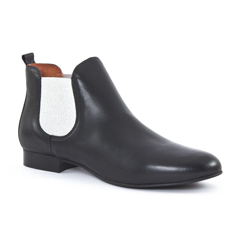bf5dc6c959a301 Scarlatine 8476C Noir Argent | boot élastiquées noir argent ...