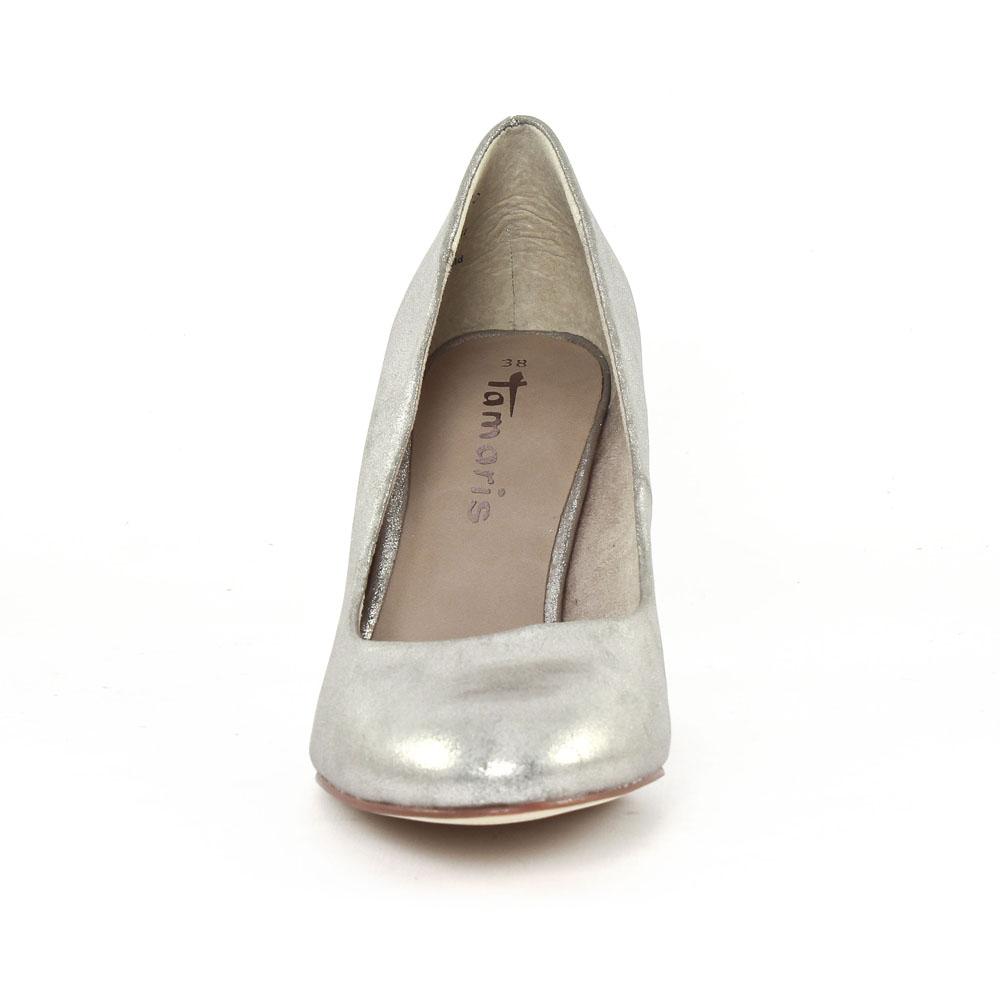 87d7f55c42d9 Tamaris 22414 Platinum | escarpins gris argent printemps été chez ...