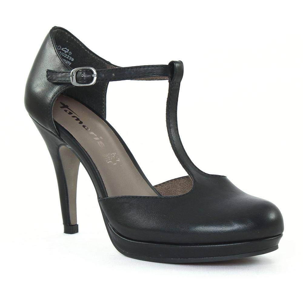 tamaris 24428 black escarpin salom noir printemps t. Black Bedroom Furniture Sets. Home Design Ideas