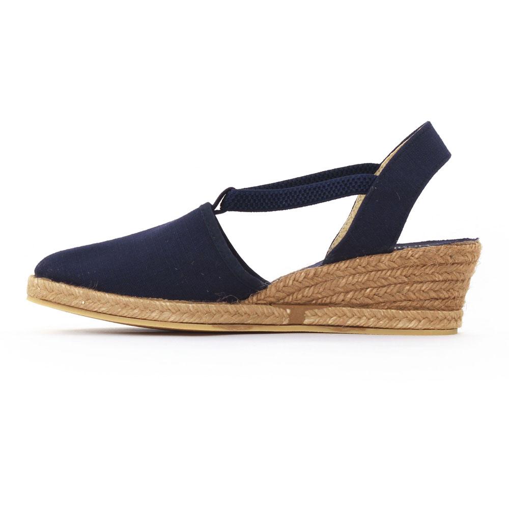 chaussure compensee bleu marine femme. Black Bedroom Furniture Sets. Home Design Ideas