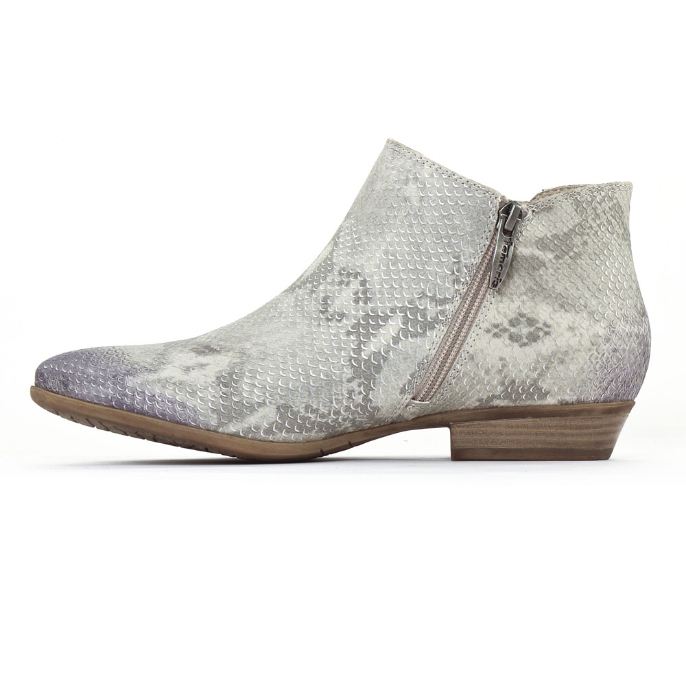 tamaris 25303 grey | low boots serpent gris printemps été chez