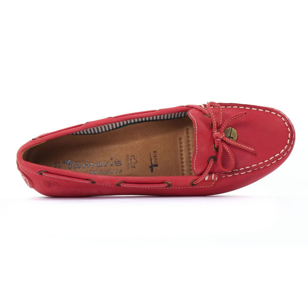 Tamaris 24607 Chilli | mocassin confort rouge printemps été