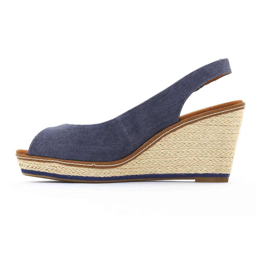 nu pieds semelle corde bleu mode femme printemps été vue 3