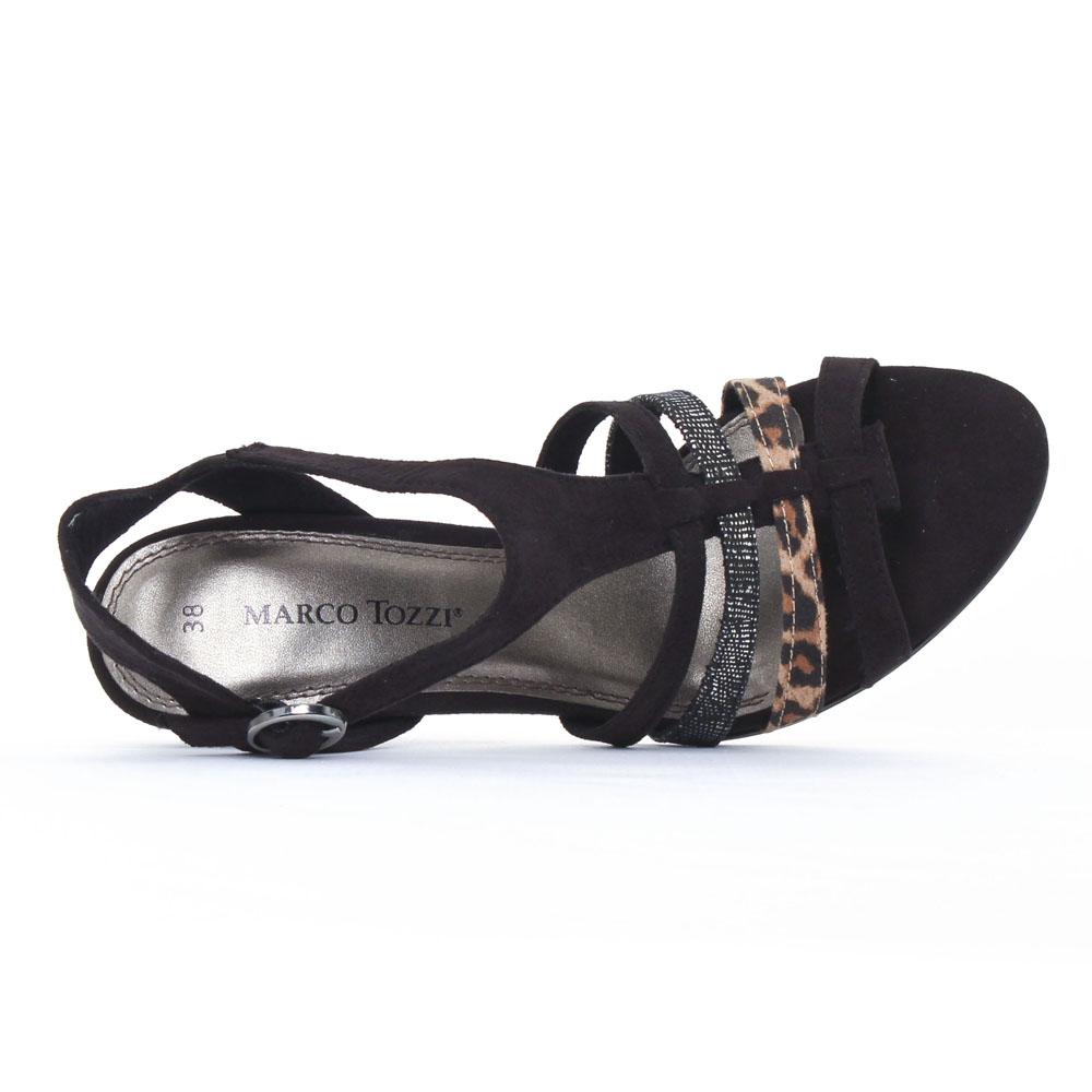 nu pieds talons hauts noir mode femme printemps été vue 4