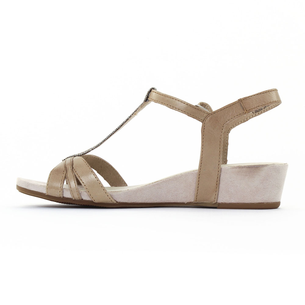 Tamaris 28202 Pepper | sandale compensées beige printemps