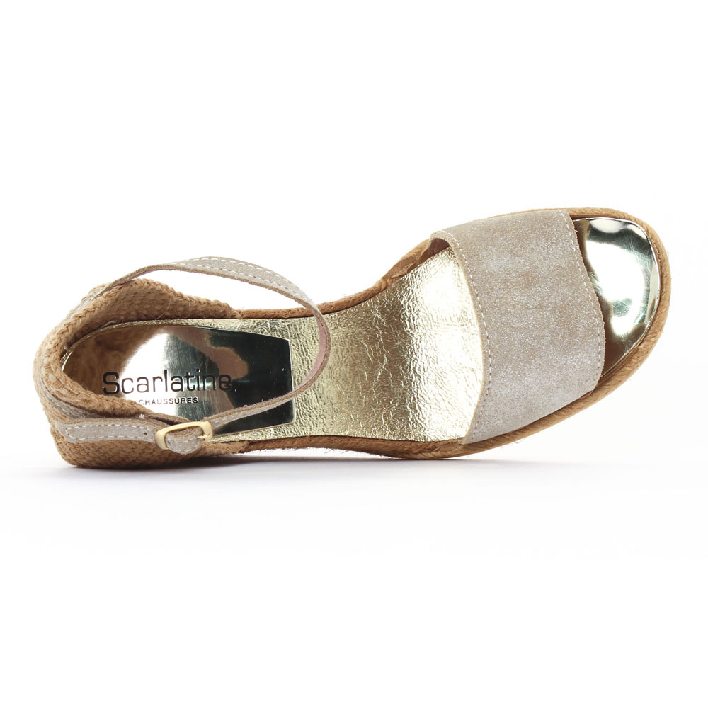 scarlatine 6t20 dune sandale compens es beige dor. Black Bedroom Furniture Sets. Home Design Ideas