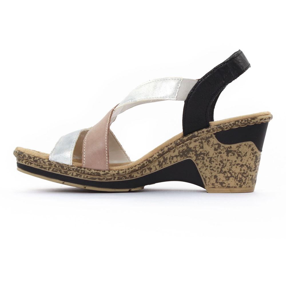 c700c0e9351f4 sandales compensées multicolore mode femme printemps été vue 3