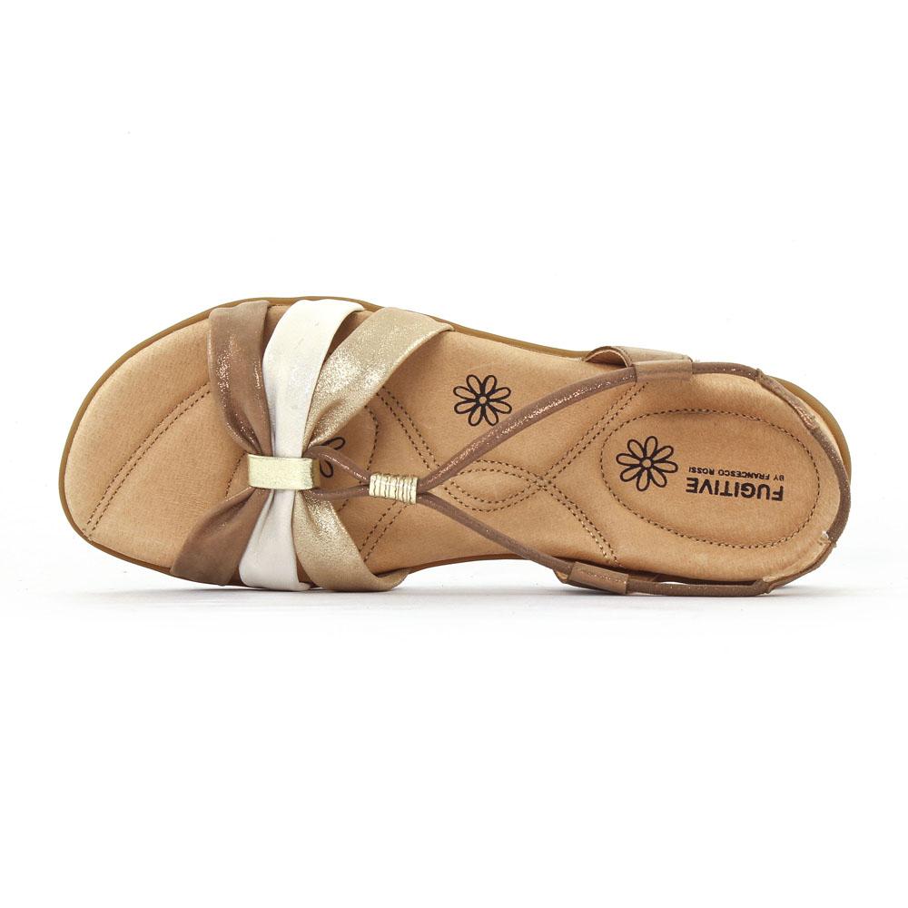 fugitive come metal cuivre sandales marron dor printemps t chez trois par 3. Black Bedroom Furniture Sets. Home Design Ideas