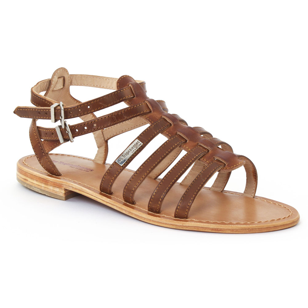 les tropeziennes hicare tan sandales marron printemps t 2015 chez trois par 3. Black Bedroom Furniture Sets. Home Design Ideas