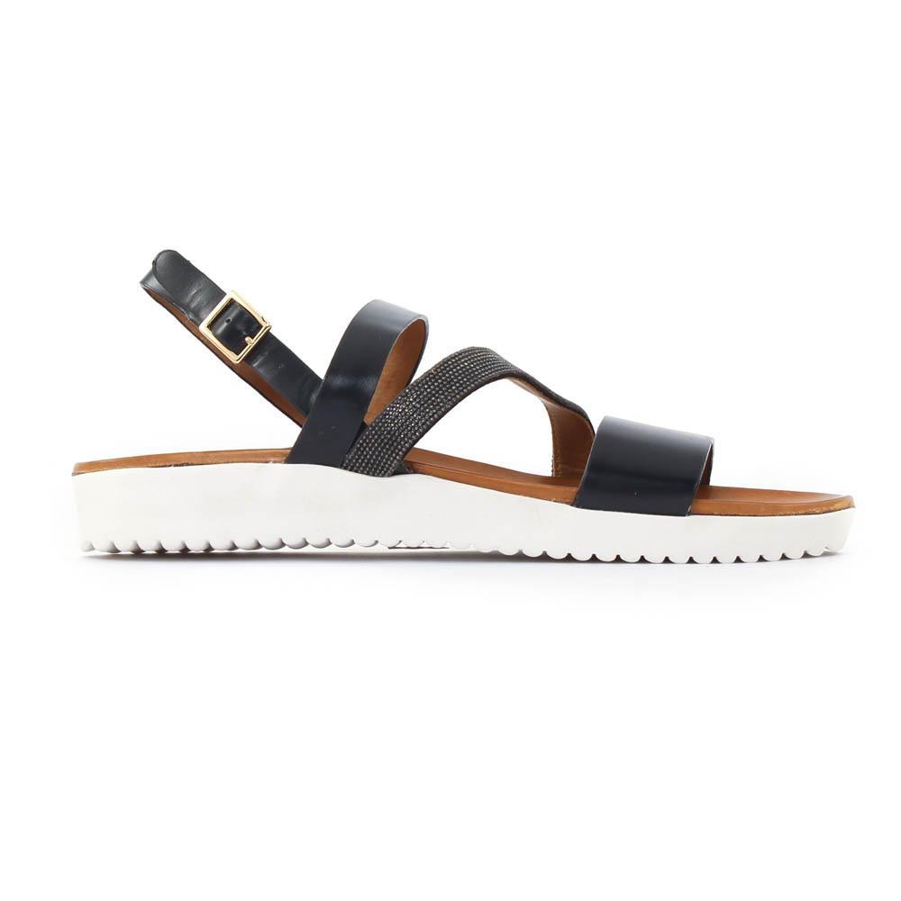 3de9f26a55426a Femme Plus Xabi Black   sandales noir printemps été chez TROIS PAR 3